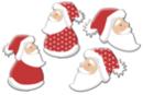 Pères Noël en bois décoré - Set de 8 - Motifs peints - 10doigts.fr