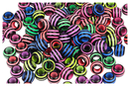Perles abeilles couleurs vives - 100 perles - Perles acrylique - 10doigts.fr