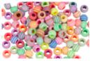 Perles abeilles couleurs pastel - 100 perles - Perles acrylique - 10doigts.fr