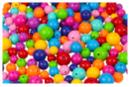 Perles rondes brillantes - 180 perles - Perles acrylique - 10doigts.fr