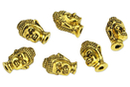 Perles Buddha en métal doré - 6 perles - Perles Lithothérapie - 10doigts.fr