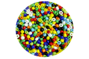 Grosses perles de rocaille opaques - 4000 perles - Perles de rocaille - 10doigts.fr
