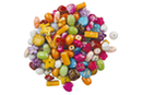 Perles Splatter - 70 perles - Perles acrylique - 10doigts.fr