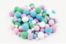 Pompons couleurs pastel - Set de 120 - Pompons - 10doigts.fr