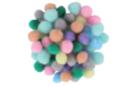 Mini-pompons couleurs pastel - Set de 200 - Pompons - 10doigts.fr