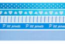Rubans en camaïeu bleu - Set de 5 - Rubans et ficelles - 10doigts.fr
