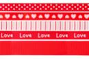 Rubans en camaïeu rouge - Set de 5 - Rubans et ficelles - 10doigts.fr