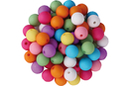 Perles rondes mates - 80 perles - Perles acrylique - 10doigts.fr