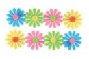 Stickers fleurs en feutrine auto-adhésive - Formes en Feutrine Autocollante - 10doigts.fr