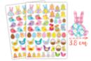 Gommettes de Pâques Vichy - 2 planches - Décorations et accessoires de Pâques - 10doigts.fr