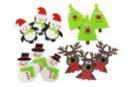 Stickers de Noël en caoutchouc souple - 12 stickers - Formes en Mousse autocollante - 10doigts.fr