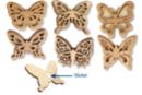 Stickers papillon assortis - Motifs bruts - 10doigts.fr