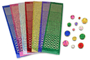 Stickers strass - 7 couleurs assorties - Stickers strass, cabochons - 10doigts.fr