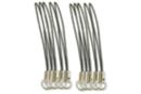 Attaches gri-gri noires - Lot de 10 - Porte-clés pour bijoux 01004 - 10doigts.fr