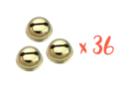 Grelots dorés Ø 1,8 cm - 36 pièces - Grelots et clochettes - 10doigts.fr