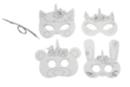 Masques licorne  - Set de 4 - Mardi gras, carnaval 36001 - 10doigts.fr