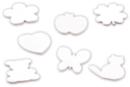 Blocs notes formes assorties 7,5 cm - Lot de 7 - Cuisine et vaisselle 10285 - 10doigts.fr