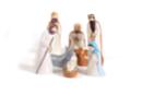 8 sujets crèche à mouler - Supports de fêtes en carton 37022 - 10doigts.fr