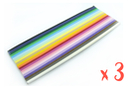 Bandes Quilling (x 1200) - 16 cm x 3 mm - 20 couleurs  - Quilling, paperolles 06029 - 10doigts.fr