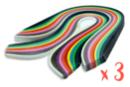 Bandes Quilling (x 840) - Longueur : 34,5 cm / 4 mm ( x 420 ) + 8 mm ( x 420 ) - 14 couleurs - Quilling, paperolles 14889 - 10doigts.fr