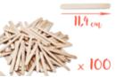 Bâtons d'esquimaux en bois (11,4 cm) - Lot de 100 - Bâtonnets, tiges, languettes - 10doigts.fr