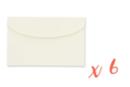 Blocs-notes en carte forte pour sac à main - Lot de 6 - Carnets et blocs-notes en carton - 10doigts.fr