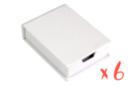 Boîte à notes à décorer - Lot de 6 - Boîtes en carton 29057 - 10doigts.fr