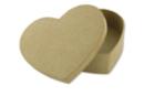 Boîte cœur  13 x 10 cm - H : 3,5 cm - L'unité - Boîtes en carton 11830 - 10doigts.fr