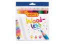 Crayons de couleur sans bois - Boite de 24 crayons - Crayons de couleurs 35052 - 10doigts.fr