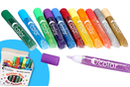 Stylos colle à paillettes 10 ml (12 couleurs) - 50 stylos - Colles scolaires 35002 - 10doigts.fr