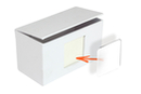 Boite en carton blanc avec insert photo - avec protection plastique - Boîtes en carton - 10doigts.fr