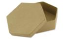 Boîte hexagonale Ø 10,5 cm - H : 3,5 cm - L'unité - Boîtes en carton 11836 - 10doigts.fr