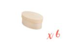 Boîtes ovales en bois - Lot de 6 - Boîtes et coffrets 10472 - 10doigts.fr