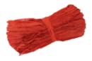 Botte de 50 gr de raphia rouge - Paille et Raphia 03554 - 10doigts.fr