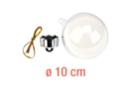 Boule en plastique transparent 3 en 1 : ø 10 cm - Plastique Transparent 13065 - 10doigts.fr