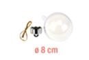 Boule en plastique transparent 3 en 1 : ø 8 cm - Plastique Transparent 13063 - 10doigts.fr