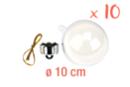 Boules en plastique transparent 3 en 1 : ø 10 cm - Lot de 10 - Plastique Transparent 13066 - 10doigts.fr