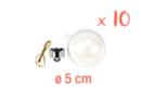 Boules en plastique transparent 3 en 1 : ø 5 cm - Lot de 10 - Plastique Transparent 13062 - 10doigts.fr