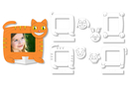 Cadres photo à colorier animaux - 16 cadres - Supports pré-dessinés 15513 - 10doigts.fr