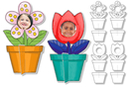 Cadres photo à colorier fleurs - 16 cadres - Supports pré-dessinés 15515 - 10doigts.fr