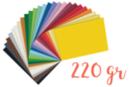 Cartes fortes (25 x 35 cm) 220 gr/m²,25 couleurs - 25 feuilles - Papiers épais 18180 - 10doigts.fr
