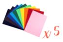 Cartes fortes A4 (21x29,7cm) 220 gr/m²,10 couleurs - 50 feuilles - Papiers épais 13963 - 10doigts.fr