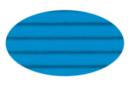 Carton ondulé 50 x 70 cm bleu clair - 1 rouleau - Carton ondulé 08366 - 10doigts.fr