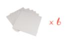 Cartons entoilés 20 x 20 cm - Lot de 6 - Cartons toilés - 10doigts.fr