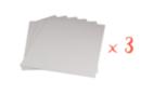 Cartons entoilés 30 x 40 cm - Lot de 3 - Cartons toilés - 10doigts.fr