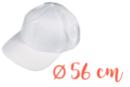 Casquette adulte (56 cm) - Coton, lin 08284 - 10doigts.fr