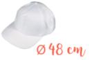 Casquette enfant (48 cm) - Coton, lin 08278 - 10doigts.fr