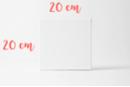Châssis carré 20x20cm - Châssis - 10doigts.fr