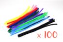 Chenilles colorées 50 cm - Ø 9 mm - Set de 100 - Chenilles, cure-pipe - 10doigts.fr