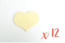 Coeurs en bois (6 x 4.8 cm - Ep. 3 mm) - 12 pièces - Motifs bruts - 10doigts.fr